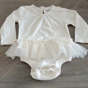 Baby girl ivory/cream onsie with tulle